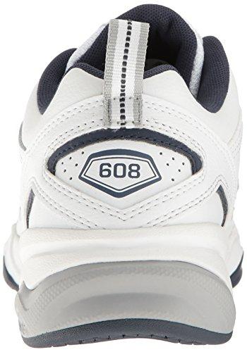New Balance Men's MX608v4 Training Shoe, White/Navy, 10.5 4E US by New Balance (Image #9)