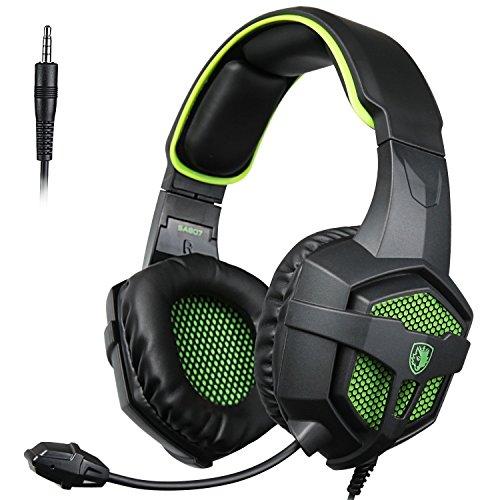 SADES SA-807 New Version Gaming Headsets Headphones For New Xbox one PS4 PC Laptop Mac iPad iPod (Black&Green)
