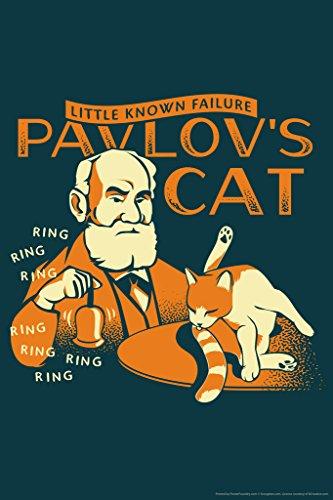 Pavlovs Cat Little Known Failure Funny Cool Wall Decor Art Print Poster 12x18