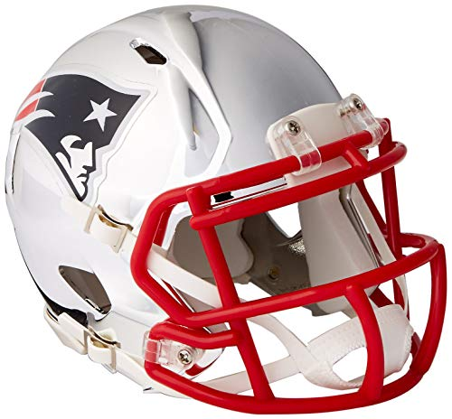 Riddell Speed NFL NEW ENGLAND PATRIOTS Football Helmet Chrome Mini