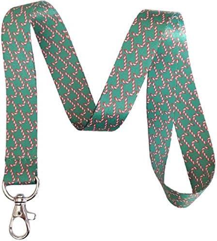 Schlüsselband mit weihnachtlichem Motiv Candy Cane