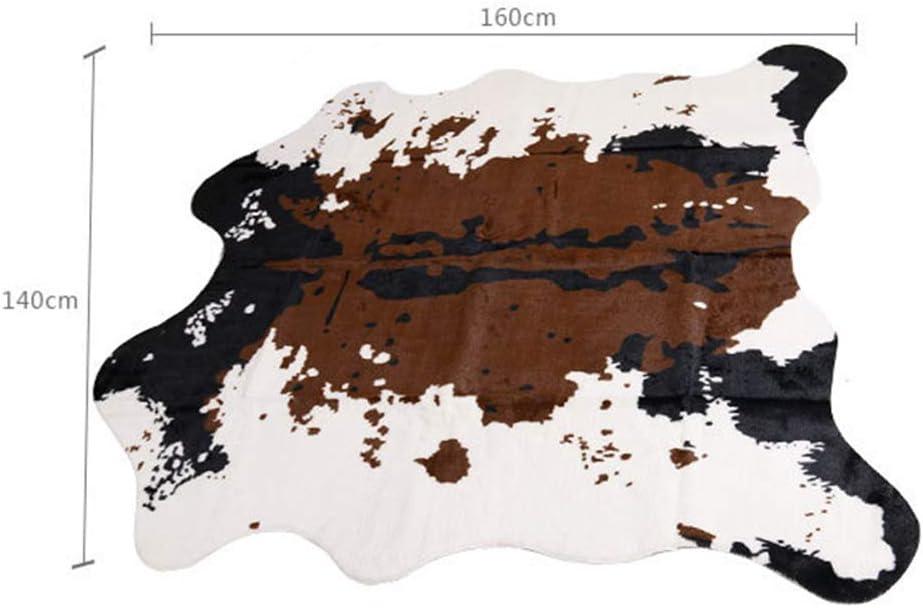 Fourrure synth/étique 75x110cm Tapis en fausse fourrure de mouton Housse de chaise vache Tapis moelleux en fausse fourrure Pour chambre /à coucher ou canap/é