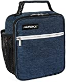 MAZFORCE Original Lunch Bag Insulated Lunch Box - Tough & Spacious Adult Lunchbox to Seize Your Day (Midnight Blue - Lunch Bags Designed in California for Men, Adults, Women)