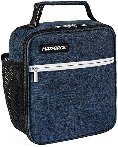 MAZFORCE Original Lunch Bag Insulated Lunch Box - Tough & Spacious Adult Lunchbox to Seize Your Day (Midnight Blue - Lunch Bags Designed in California for Men, Adults, Women) ()
