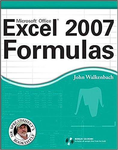 Amazon.com: Excel 2007 Formulas (9780470044025): John Walkenbach ...