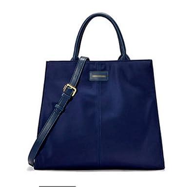Bolsos para dama Bolso de hombro para mujer Bolso bandolera Bolso bandolera de gran capacidad Bolso de nylon de color sólido Bolso mensajero duradero Bolso de compras para damas (Color : BLUE): Belleza