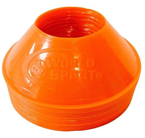 World Sport MINI Disc Cones Neon Orange (25 (Small Cones)