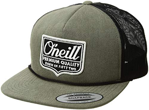 Shield Military Cap - O'Neill Men's Logo Trucker Snapback Hat, Shield Dark Army, ONE