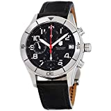 Victorinox Swiss Army Men's 241193 Ambassador Clous De Paris Black Leather Automatic Chronograph Watch