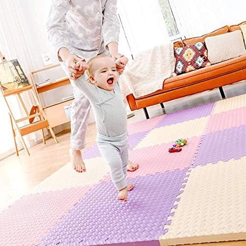 WSND FZWAI Tapis de Sol Tapis de Sol en Mousse Sol Carrelage de Jeu for bébé Tapis for Plancher Eva Interlocking Tapis Gym Plancher Mousse Sol Carrelage Tapis Enfant