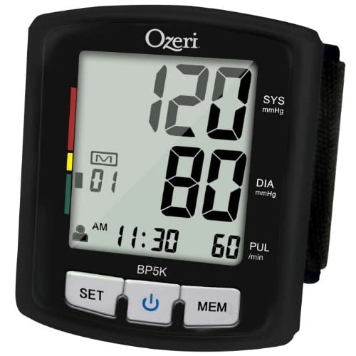 Ozeri BP5K Digital Blood Pressure Monitor with Voice-Guided Positioning and Hypertension Indicator