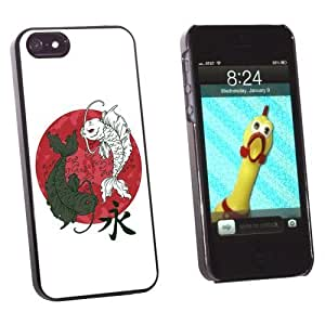 Graphics and More Yin and Yang Red Moon - Japanese Asian Koi Carp Fish - Snap-On Hard Protective For SamSung Galaxy S3 Phone Case Cover - Non-Retail Packaging - Black