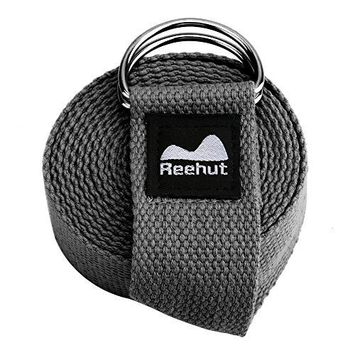 REEHUT Fitness Exercise Yoga Strap  w/Adjustable D-Ring Buck