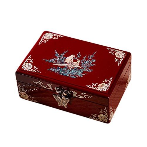 Box Tribute Wooden (Wooden Jewelry Box,Jewelry Storage Organizer,Trinket Jewelry Box With Traditional Design)