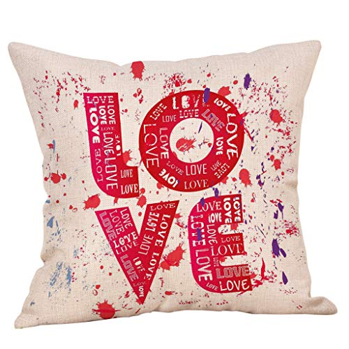 VECDUO Clearance Sale! Love Valentine's Day Throw Pillow Case Sweet Love Square Cushion Cover, 18x18 -