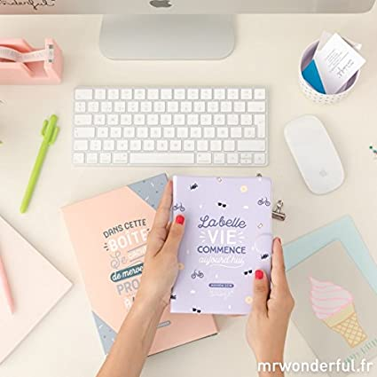 Mr Wonderful Agenda semanal pequeña, 2018, diseño con texto ...