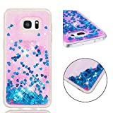 Glhkkp-te Samsung S7edge cover Quicksand Glitter Colorful Liquid Phone Case For Samsung Galaxy S7 Edge Floating Sparkle TPU Color Gradient Protective Back Cover Samsung Galaxy S7 Edge Case