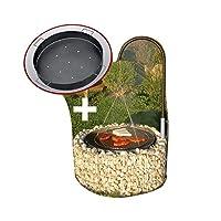 Schwenkgrill XXL schwarz Swing Grill Garten ✔ rund ✔ schwenkbar ✔ Grillen mit Holzkohle