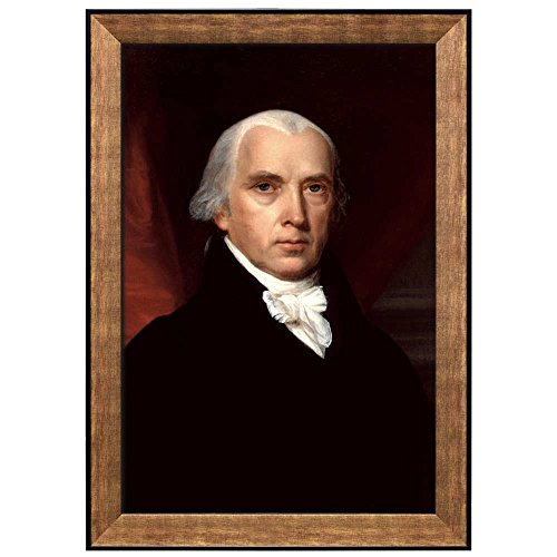 Portrait of James Madison by John Vanderlyn (4th President of the United States) American Presidents Series Framed Art Print