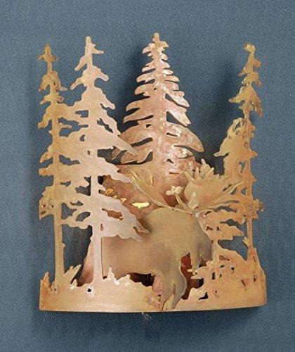 Meyda Tiffany 31660 Moose Through The Trees Wall Sconce, 11