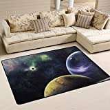 Area Rugs Doormats Triangulum Galaxy Outer Space Black Soft Carpet Mat 6'x4′ (72×48 Inches) for Living Dining Dorm Room Bedroom Home Decorative Review