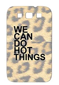 TPU Funny We Can Do Hard Things Shirt M 2 Satire Protective Case For Sumsang Galaxy S3 Black