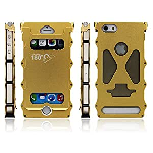 Sloda Luxury Deluxe Space Aluminum Alloy Protective Metal Bumper Shell Case Cover for APPLE IPHONE 4/4S/5/5S(I5/180/gold)