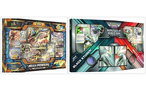 Pokemon Mega Powers Collection Box Card Game and Black Kyurem White Kyurem Battle Arena Decks Bundle, 1 of (Power Battle Box)