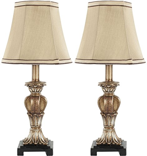 Safavieh Lighting Collection Gabriella Gold Mini Urn 17-inch Table Lamp (Set of 2)