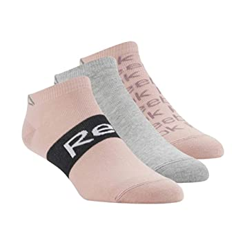 Reebok cv6911 Calcetines Mujer, Chalk Pink/Medium Grey Heather/Chalk Pink, FR: Talla Unique (Talla Fabricante: 34 - 36): Amazon.es: Deportes y aire libre