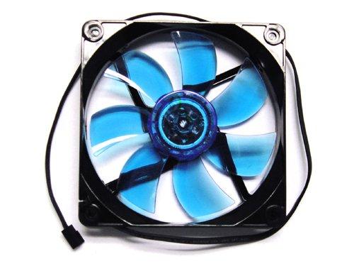 Apevia 120mm Black Frame 3 /& 4 Pin Connector Fan Grill CF12SL-BBL Blue LED case fan