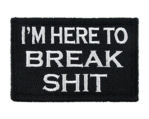 Break Morale Tags Patch Embroidered