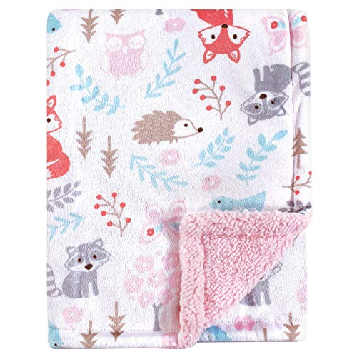 Hudson Baby Double Layer Blanket, Girl Woodland, One Size from Hudson Baby