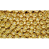 8mm Shiny Gold Metallic Bead Garland on Spools (3 Spools - 72 Feet Total) for Wedding Favors, Crafts, Decorations & More