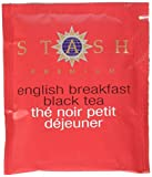 Stash Tea English Breakfast Black Tea, 100 Count Box of Tea Bags in Foil, Net Wt 7 oz. (packaging may vary)