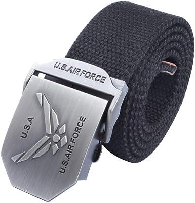 LKMY Cinturones tácticos de lona de nailon y algodón para hombre ...