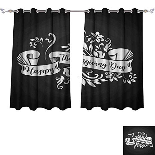 Leighhome Thermal Insulating Blackout Curtain Black Chalk Board