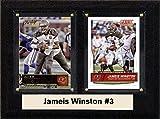 "NFL Tampa Bay Buccaneers Jamesis Winston Two Card Plaque, Brown, 6"" x 8"""