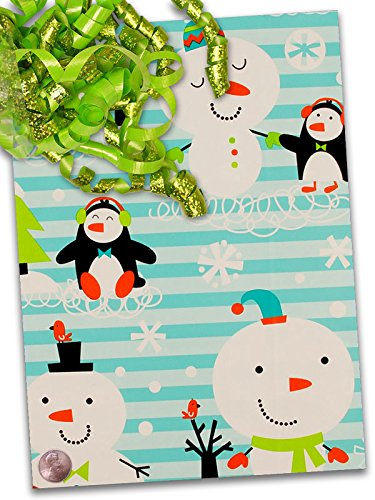24'' X 100' Chilly Chums Gift Wrap by Paper Mart