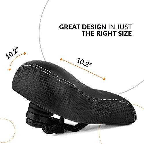 Extra Breiter Und Gepolsterter Fah Bikeroo Bequemster Fahrradsitz Für Senioren
