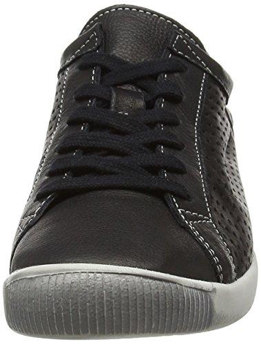 Softijs Dames Ica Zwart Glad Leer Sneaker - 38