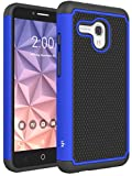 Alcatel Fierce XL Case, LK [Shock Absorption] Hybrid Dual Layer Armor Defender Protective Case Cover for Alcatel OneTouch Fierce XL, Blue