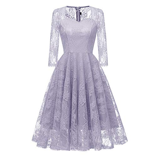 Mysky Women Vintage Princess Floral Lace Cocktail Party, used for sale  Delivered anywhere in USA