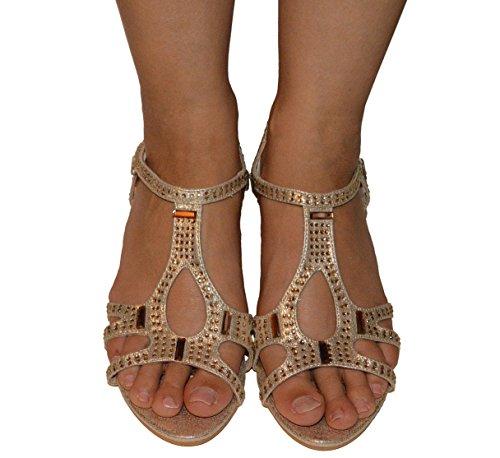Ciara - Sandalias de vestir de Material Sintético para mujer Plateado - plata
