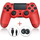 PS4 Controller, Wireless Gamepad Controller for Playstation 4 Red
