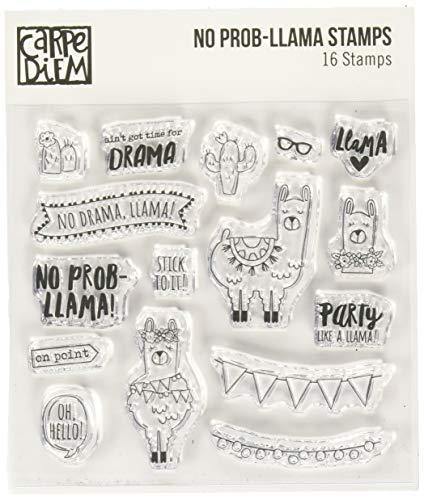 Carpe Diem By Simple Stories 10434 No No Prob-Llama Acrylic Stamp, 6x4.75, Clear