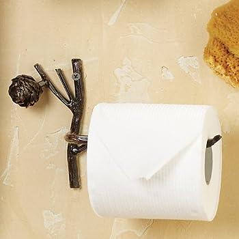 Park Designs Rustic Pinecone Lodge Toilet Paper Tissue Holder