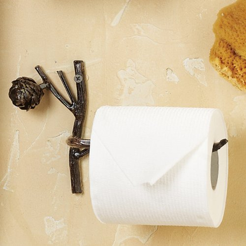 Rustic Pinecone Lodge Toilet Paper Tissue (Pinecone Toilet Tissue Holder)