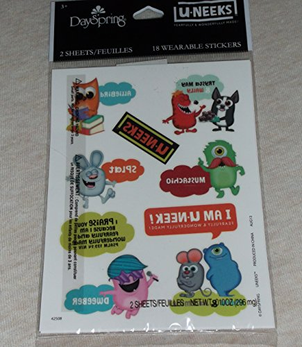 DaySpring U-Neeks - Fearfully & Wonderfully Made Stickers - 18 Wearable Stickers Tattoos -