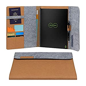 Rocketbook Smart Notebook Folio Cover – 100% Recyclable, Biodegradable Cover with Pen Holder, Magnetic Clasp & Inner…